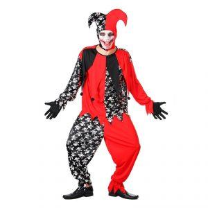 Disfraz de Bufón diabólico hombre