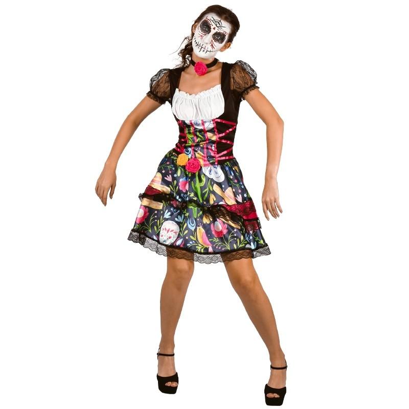 Vestido de Catrina para disfraz de Adulto