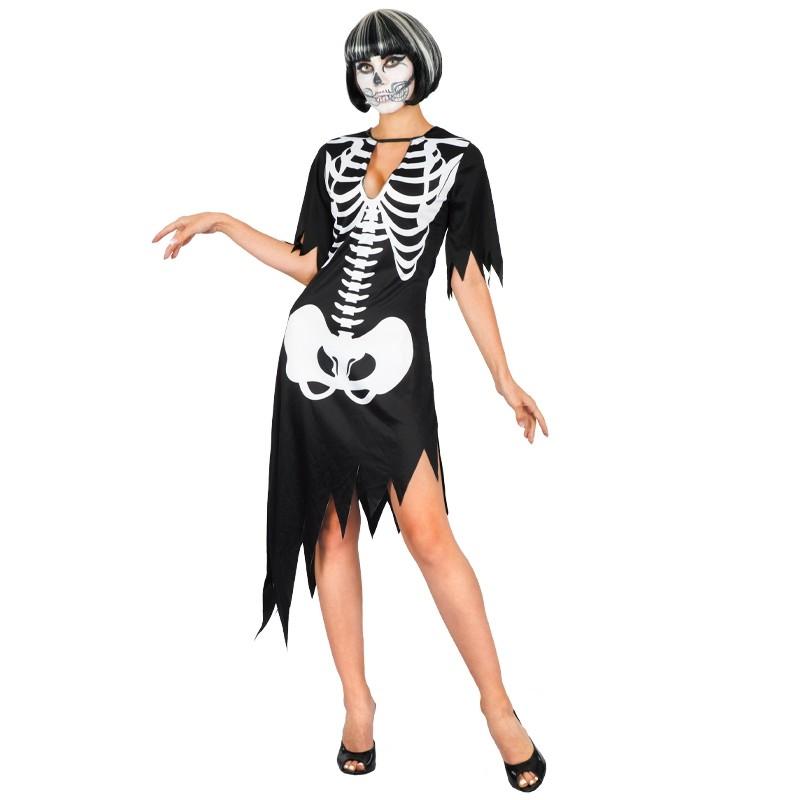 Disfarce Mulher esqueleto