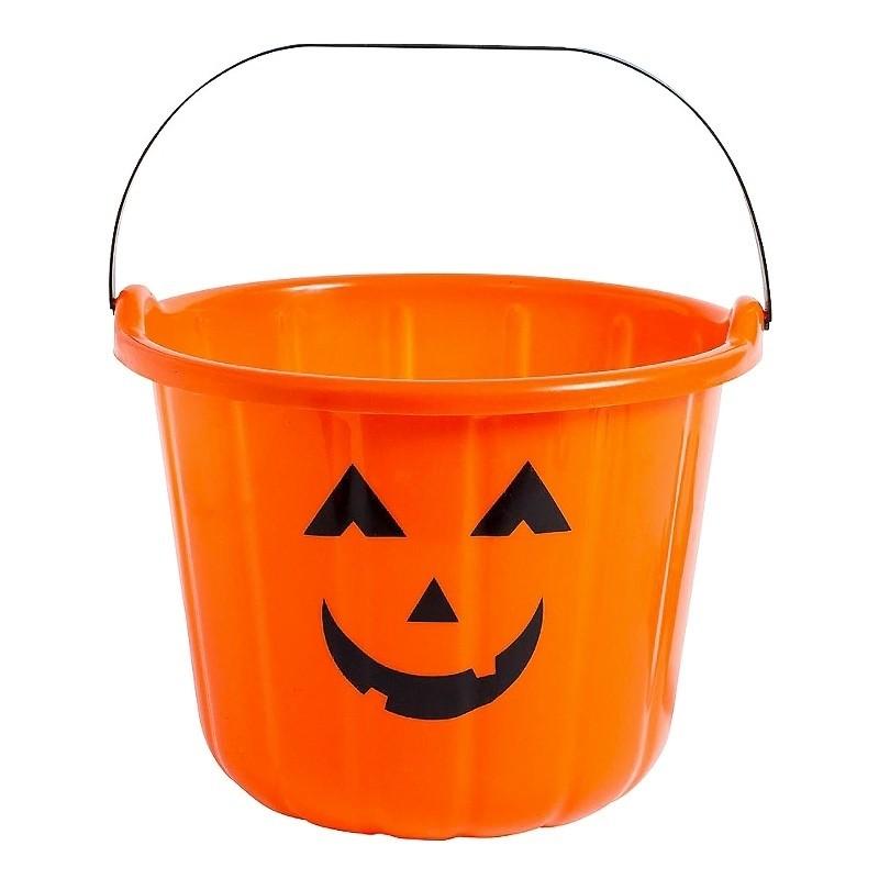 Cubo abóbora para Halloween