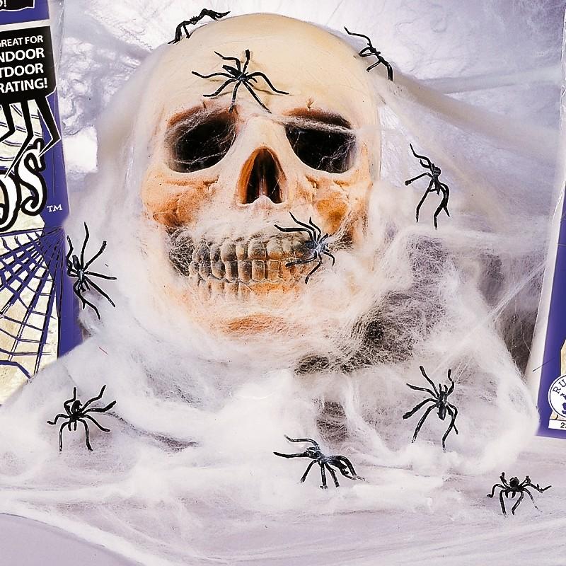 Teia gigante com 4 aranhas