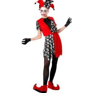 Disfraz de Bufón diabólico mujer