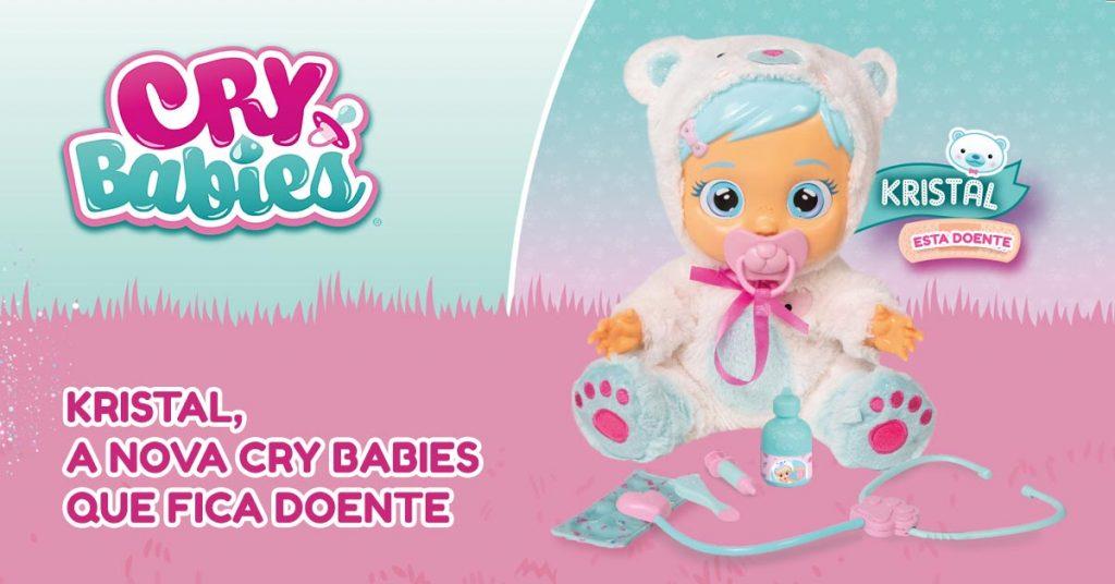 Kristal, a nova boneca Cry Babies que fica doente