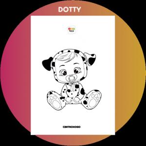colorir desenho Dotty Cry Babies