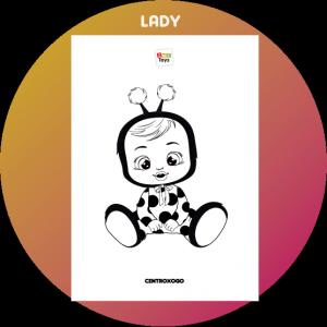 colorir desenho Lady Cry Babies