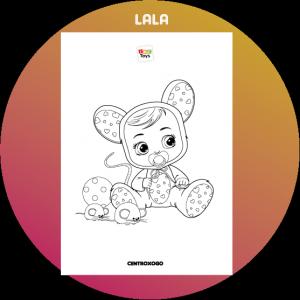 colorir desenho Lala Cry Babies