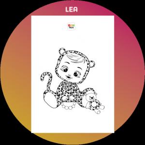 colorir desenho Lea Cry Babies