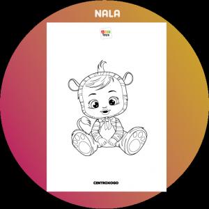 colorir desenho Nala Cry Babies